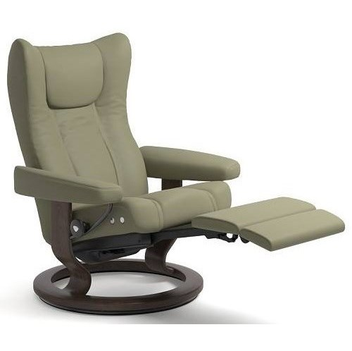Stressless WingMedium LegComfort Chair with Classic Base