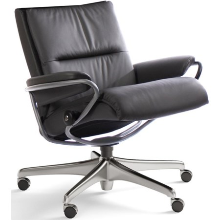 Low Back Office Chair with Star Base
