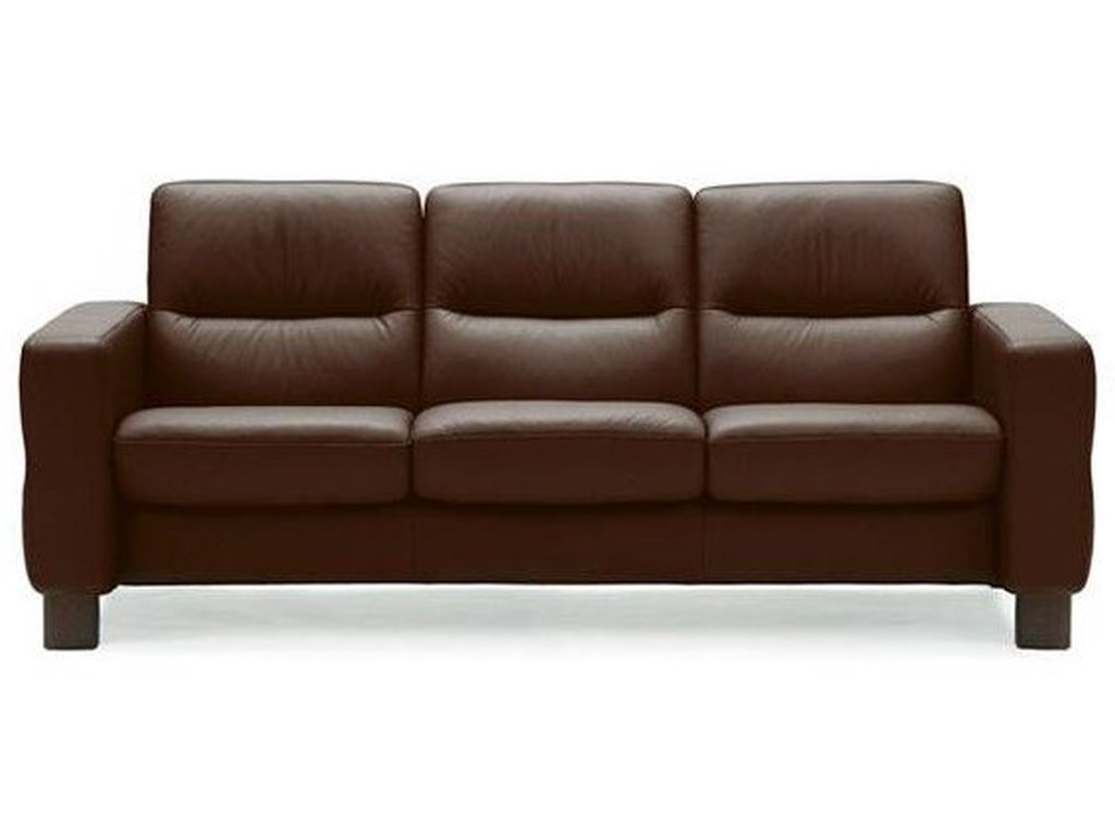 Stressless WaveLow-Back Reclining Sofa