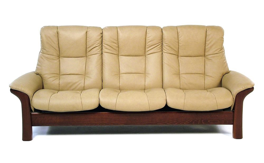 Stressless BuckinghamHigh Back 3 Seater Reclining Sofa ...