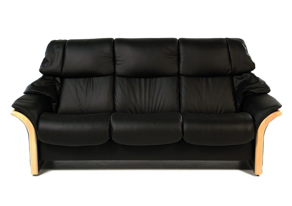 Stressless By Ekornes EldoradoHigh Back Reclining Sofa: Batick Black