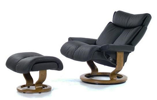 Stressless by Ekornes Stressless Recliners Magic Large Recliner/Ottoman Paloma Black u0026 Teak  sc 1 st  Rotmans & Stressless by Ekornes Stressless Recliners Magic Large Recliner ... islam-shia.org