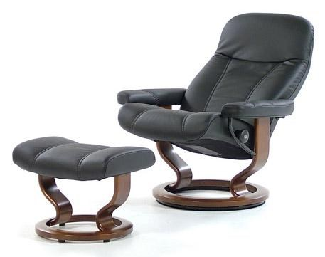 Stressless ConsulMedium Chair U0026 Ottoman With Classic Base ...