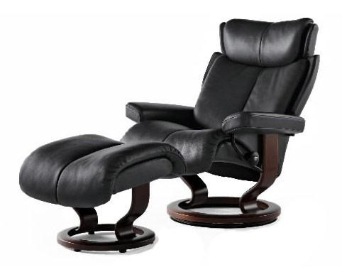 Stressless MagicSmall Chair U0026 Ottoman With Classic Base ...