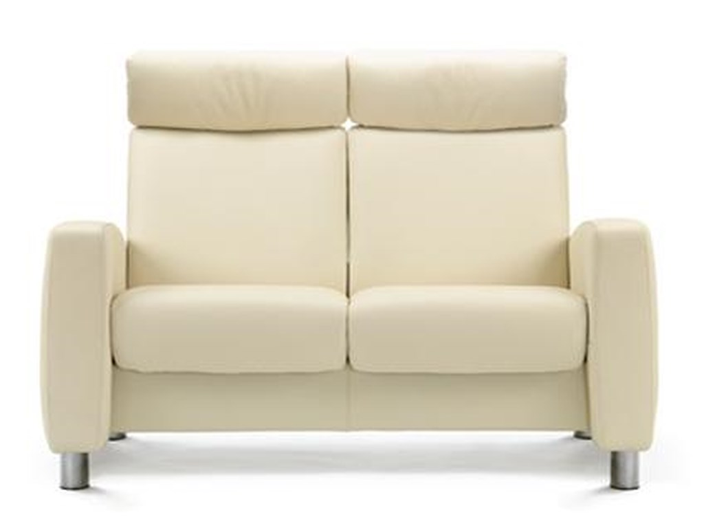 Stressless ArionHigh-Back 2 Seater Loveseat with Arms