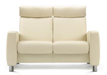 Arion High Back Reclining 2 Seater Loveseat With Arms By Stressless