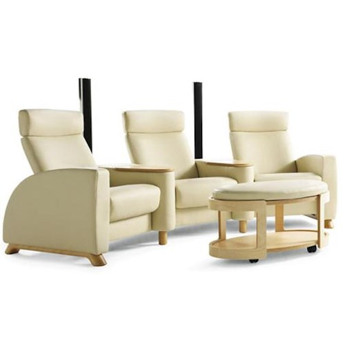 Stressless by Ekornes Arion Theater Chairs w/ Armrests