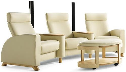 Stressless Arion Theater Chairs w/ Armrests