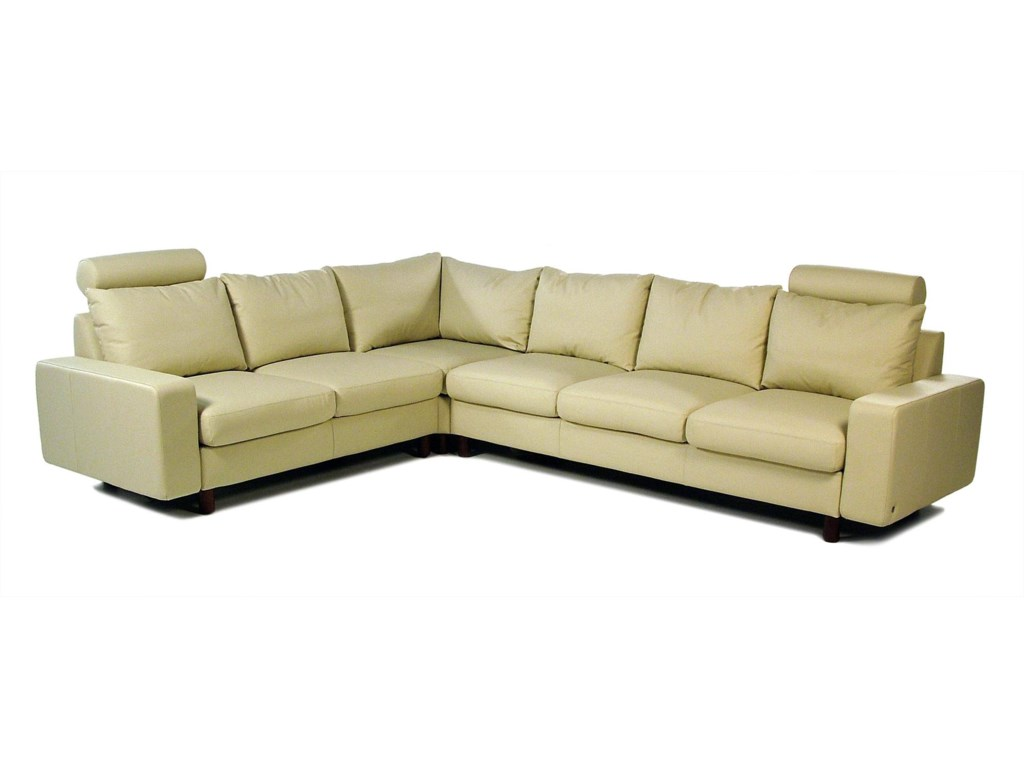 Stressless by Ekornes E200 ErgoContemporary Reclining Leather Sectional