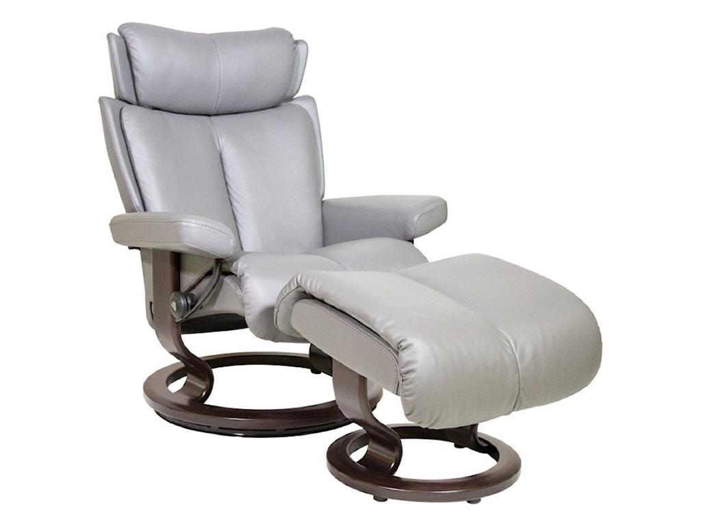 Stressless MagicMedium Stressless Chair & Ottoman