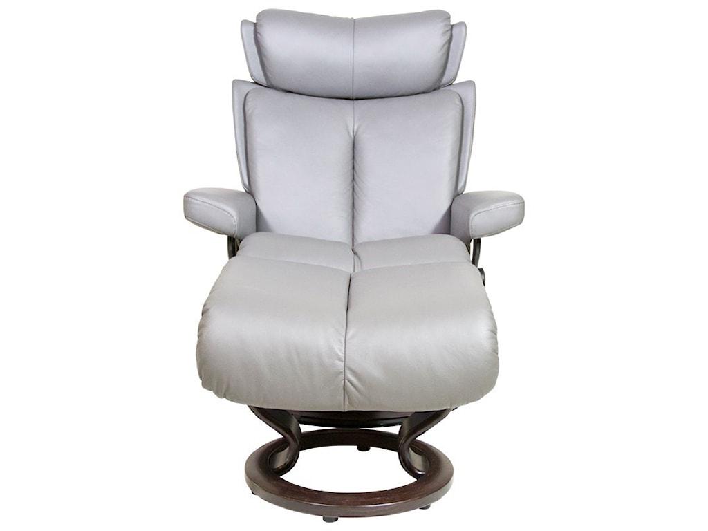 Stressless MagicMedium Chair & Ottoman with Classic Base