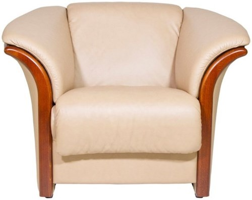 Stressless by Ekornes Manhattan Contemporary Chair with Wood Accents
