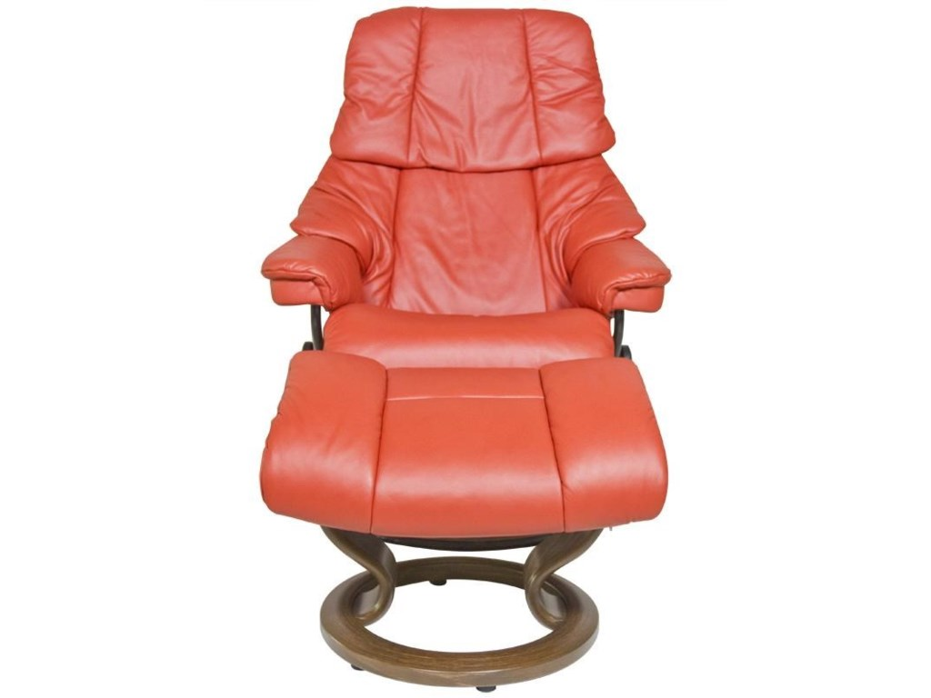 Stressless by Ekornes RenoSmall Stressless Chair & Ottoman