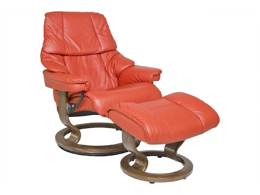 Stressless by Ekornes RenoMedium Stressless Chair & Ottoman