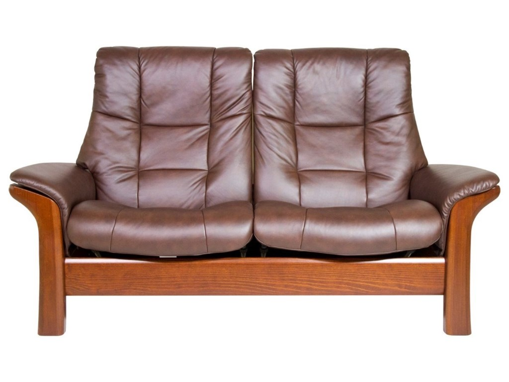 Stressless BuckinghamHigh-Back 2-Seater Reclining Loveseat