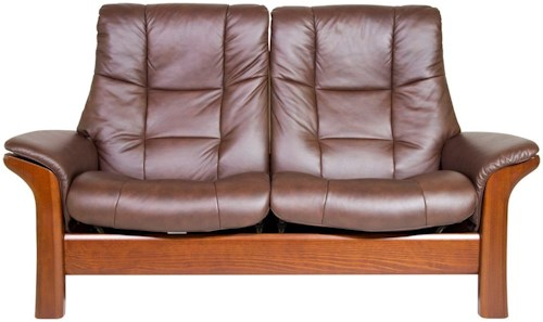 Stressless by Ekornes Stressless Buckingham High Back Reclining Leather 2-Seat Sofa