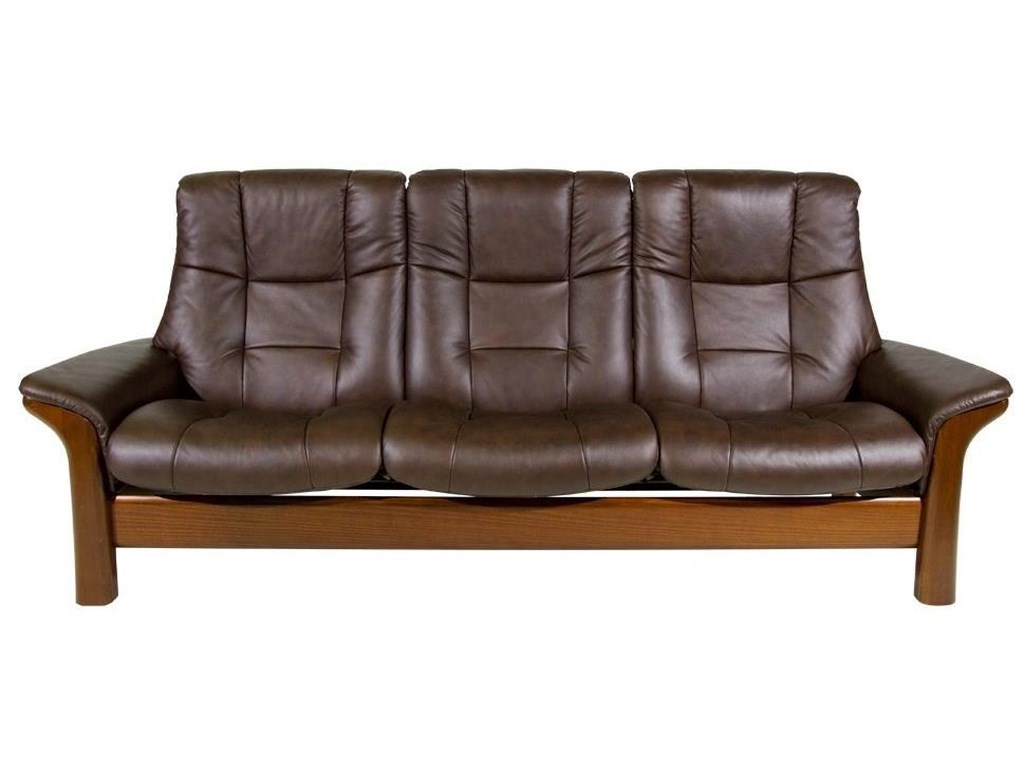 Stressless Buckingham High-Back 3-Seater Reclining Sofa | Rotmans ...