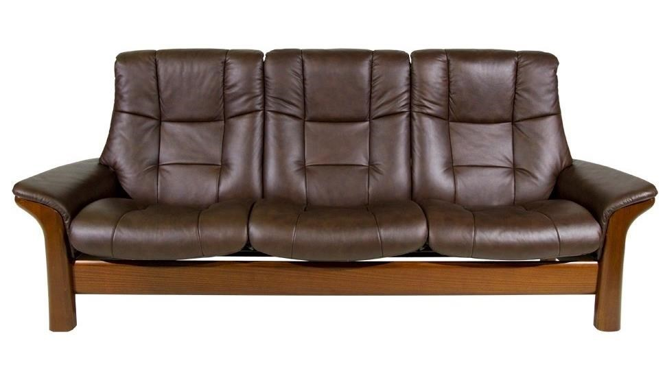 Stressless BuckinghamHigh-Back 3-Seater Reclining Sofa