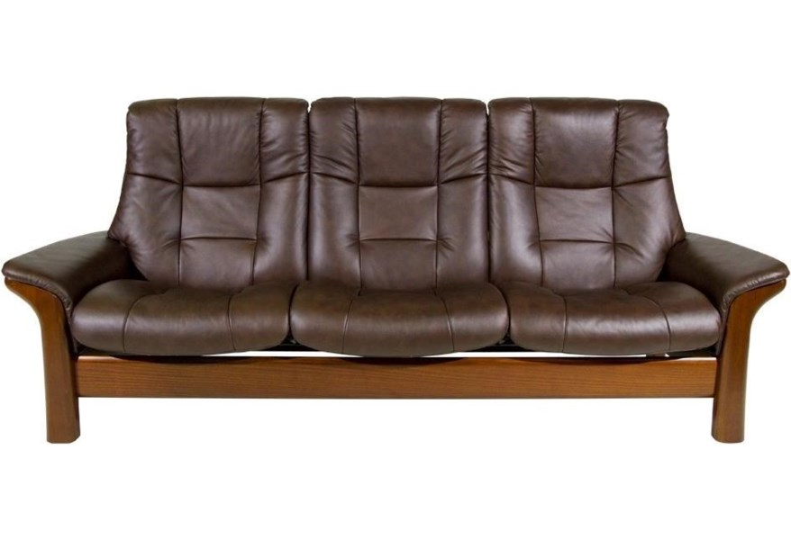 Buckingham High-Back 3-Seater Reclining Sofa by Stressless at Dunk & Bright  Furniture