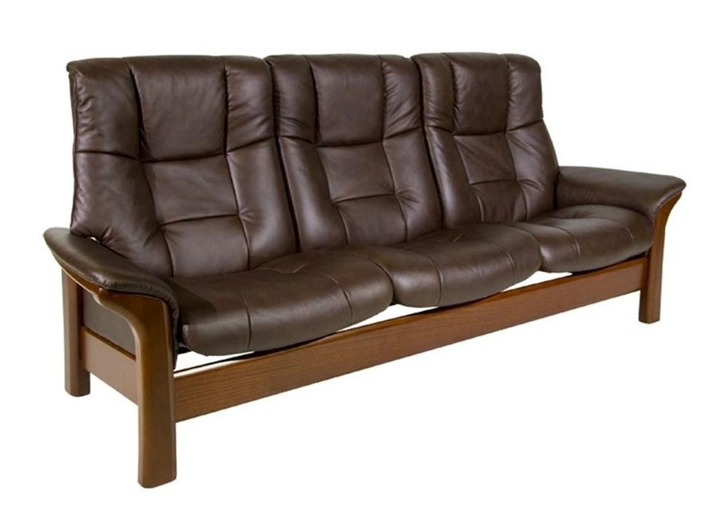 Stressless BuckinghamHigh-Back 3-Seater Reclining Sofa
