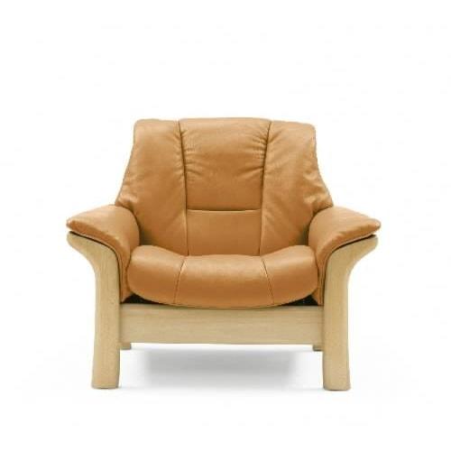 Stressless by Ekornes Stressless Buckingham Low-back Leather Reclining Chair