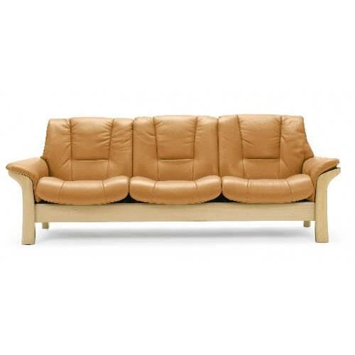 Stressless by Ekornes Stressless Buckingham Low-back Leather Reclining Sofa