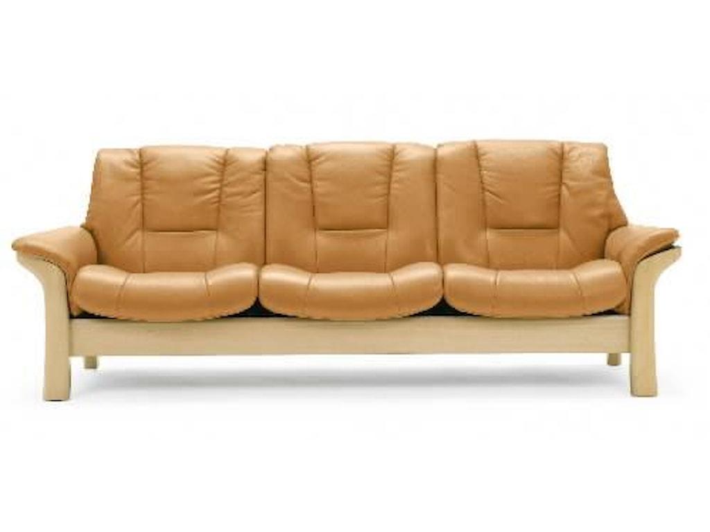 Stressless BuckinghamLow-Back 3-Seater Reclining Sofa