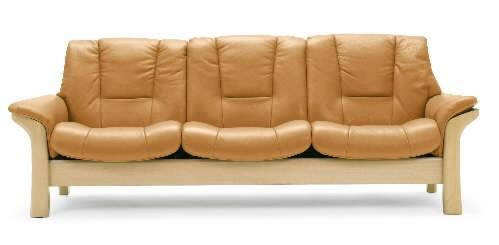 Stressless BuckinghamLow-Back 3-Seater Reclining Sofa