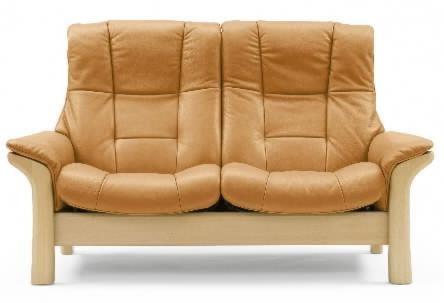 Stressless by Ekornes Stressless Buckingham High Back Reclining Leather 2-Seat Sofa