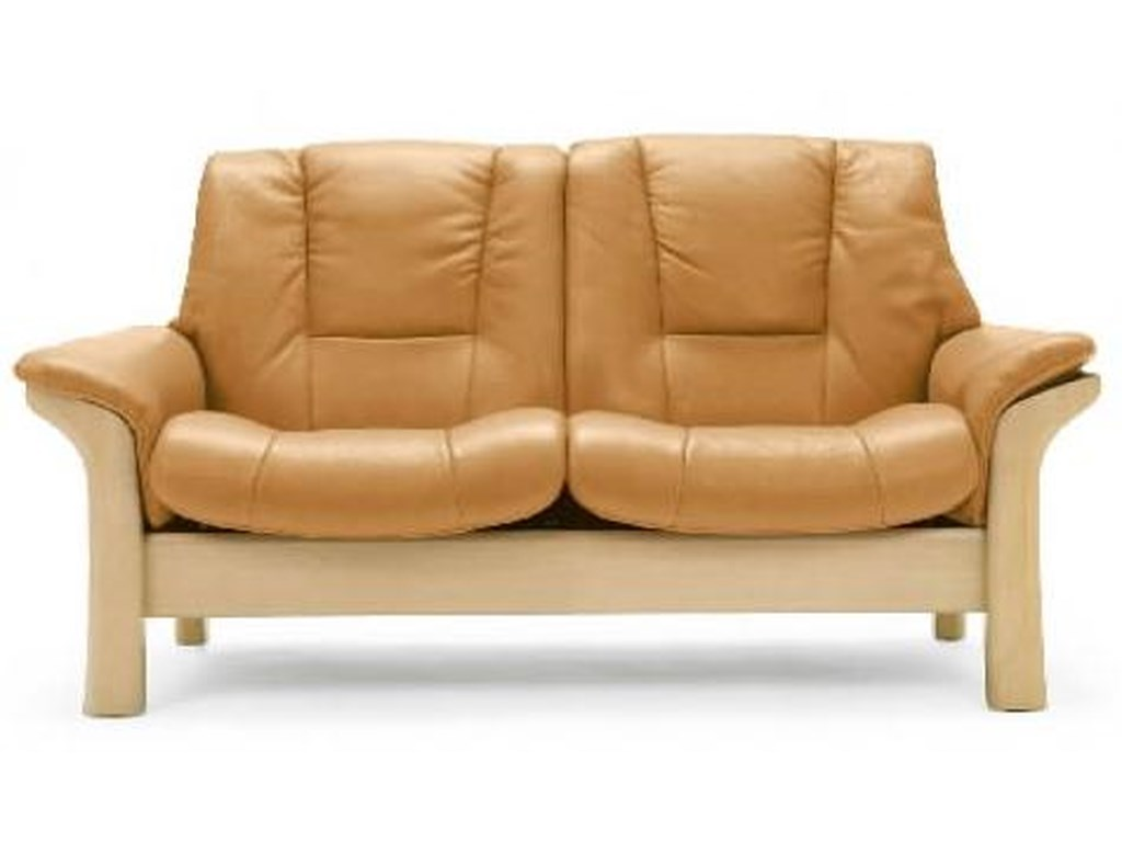 Stressless BuckinghamLow-Back 2-Seater Reclining Loveseat