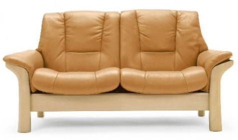 Stressless by Ekornes Stressless Buckingham Low-Back Reclining Leather 2-Seat Sofa