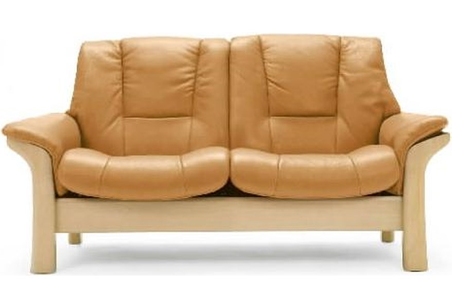 Buckingham Low-Back 2-Seater Reclining Loveseat by Stressless at Dunk &  Bright Furniture