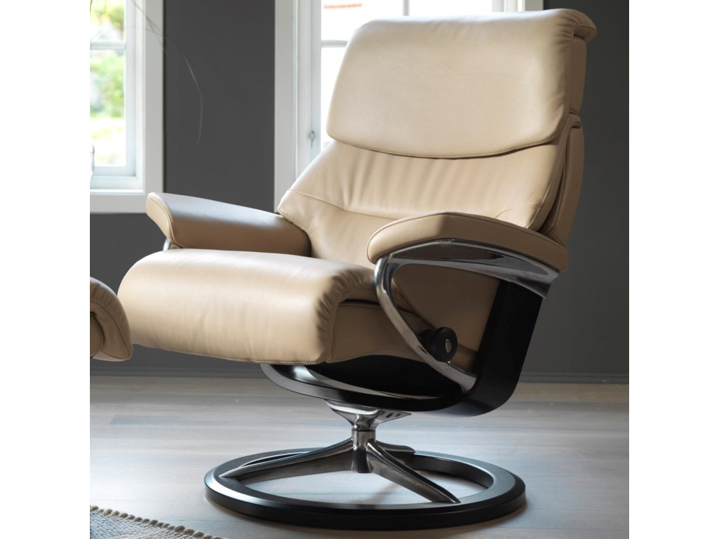 Stressless CapriLarge Reclining Chair with Signature Base