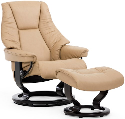 Stressless by Ekornes Stressless Live Large Classic Reclining Chair and Ottoman