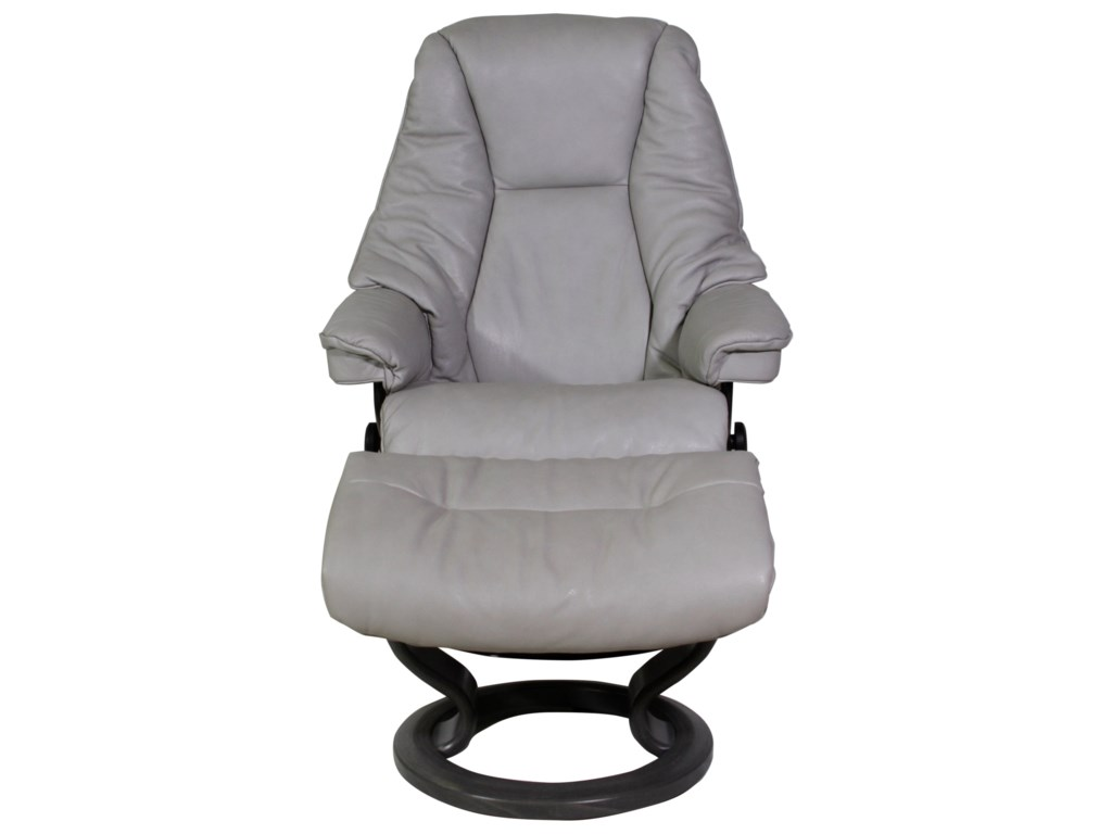 Stressless LiveSmall Chair & Ottoman with Classic Base