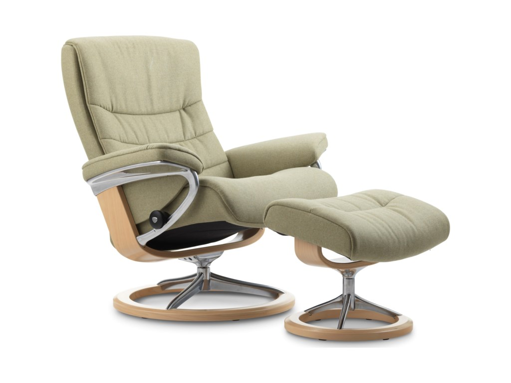 Stressless NordicSmall Chair & Ottoman with Signature Base