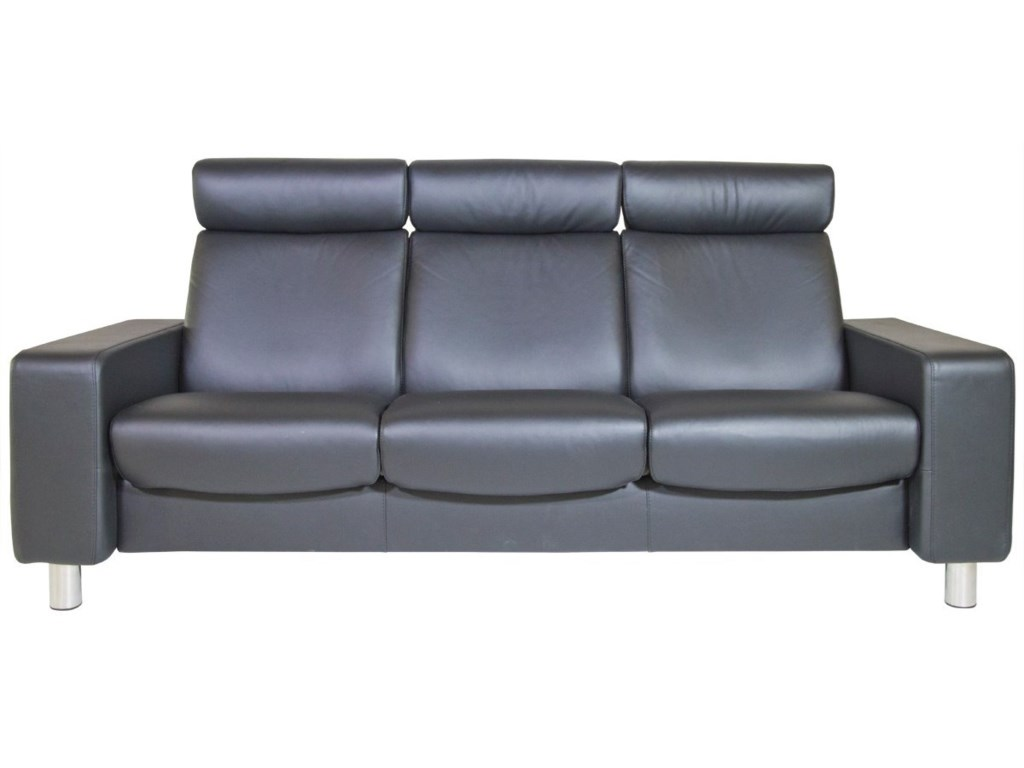 Stressless Pausehigh Back Reclining Sofa
