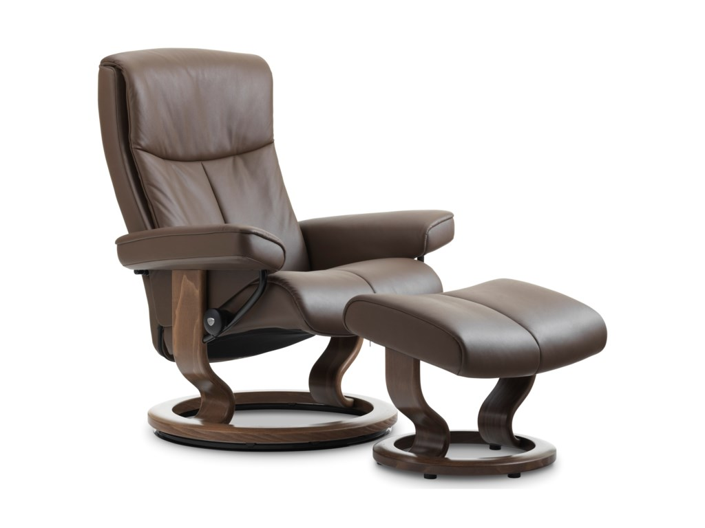 Stressless PeaceSmall Chair & Ottoman with Classic Base