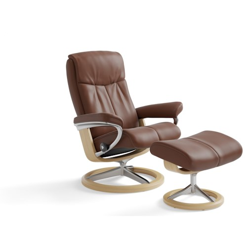 Stressless by Ekornes Stressless Peace Large Signature Reclining Chair and Ottoman
