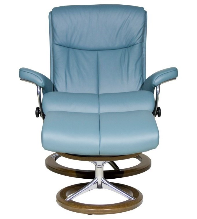Stressless PeaceLarge Chair & Ottoman with Signature Base