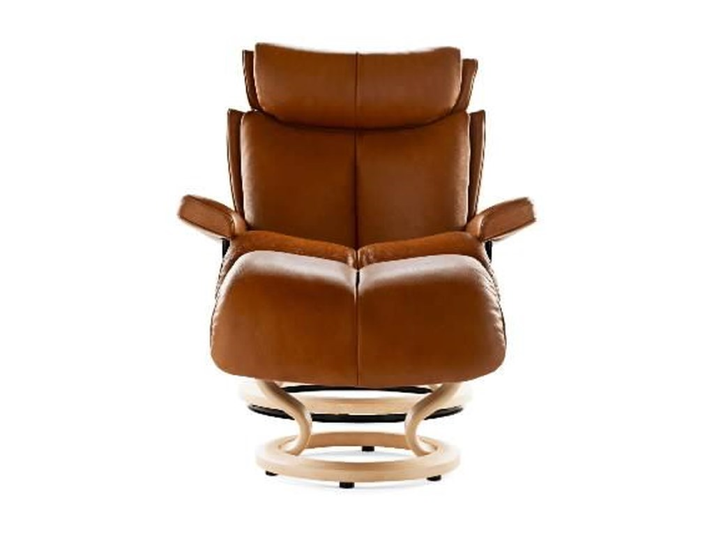 Stressless MagicLarge Chair & Ottoman with Classic Base