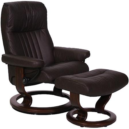 Medium Stressless Chair and Ottoman