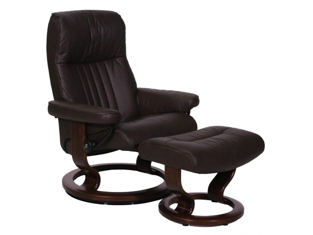 Stressless by Ekornes CrownMedium Stressless Chair and Ottoman