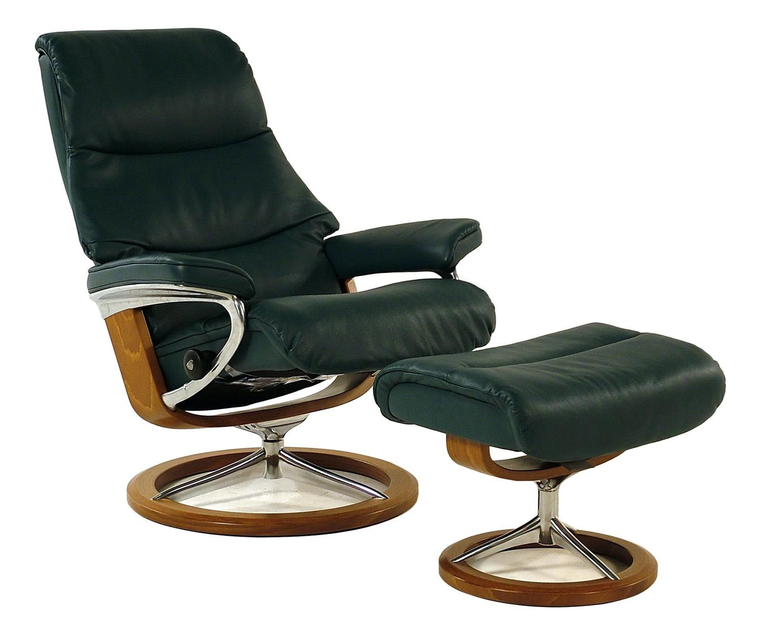 Stressless by Ekornes Stressless Recliners View Medium Recliner u0026 Ottoman Cori Petrol w/ Teak  sc 1 st  Rotmans & Stressless by Ekornes Stressless Recliners View Medium Recliner ... islam-shia.org