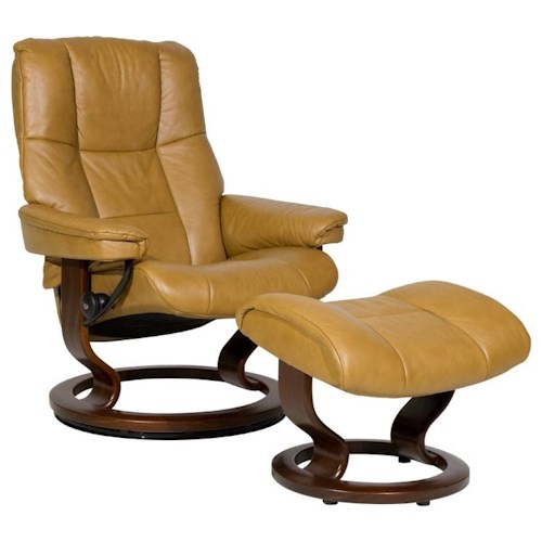 Stressless by Ekornes Stressless Recliners Mayfair Medium Reclining Chair and Ottoman