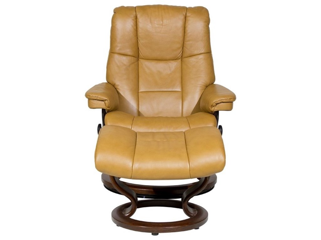 Stressless MayfairMedium Chair & Ottoman with Classic Base