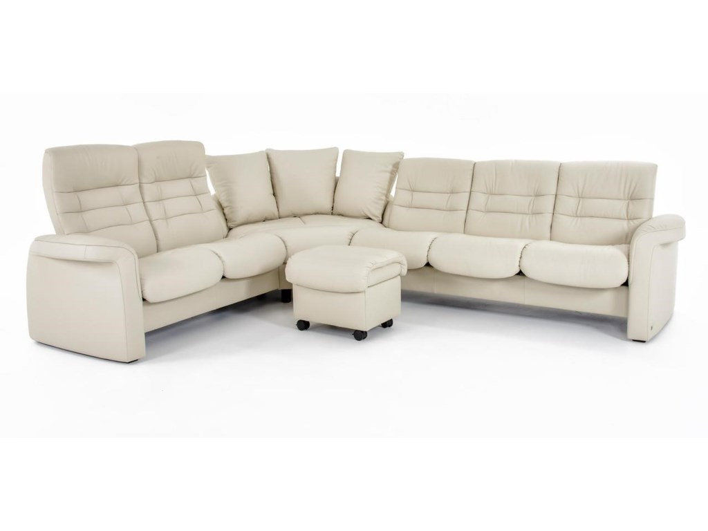 Stressless by Ekornes Stressless Sapphire4 Pc Reclining Sectional Sofa