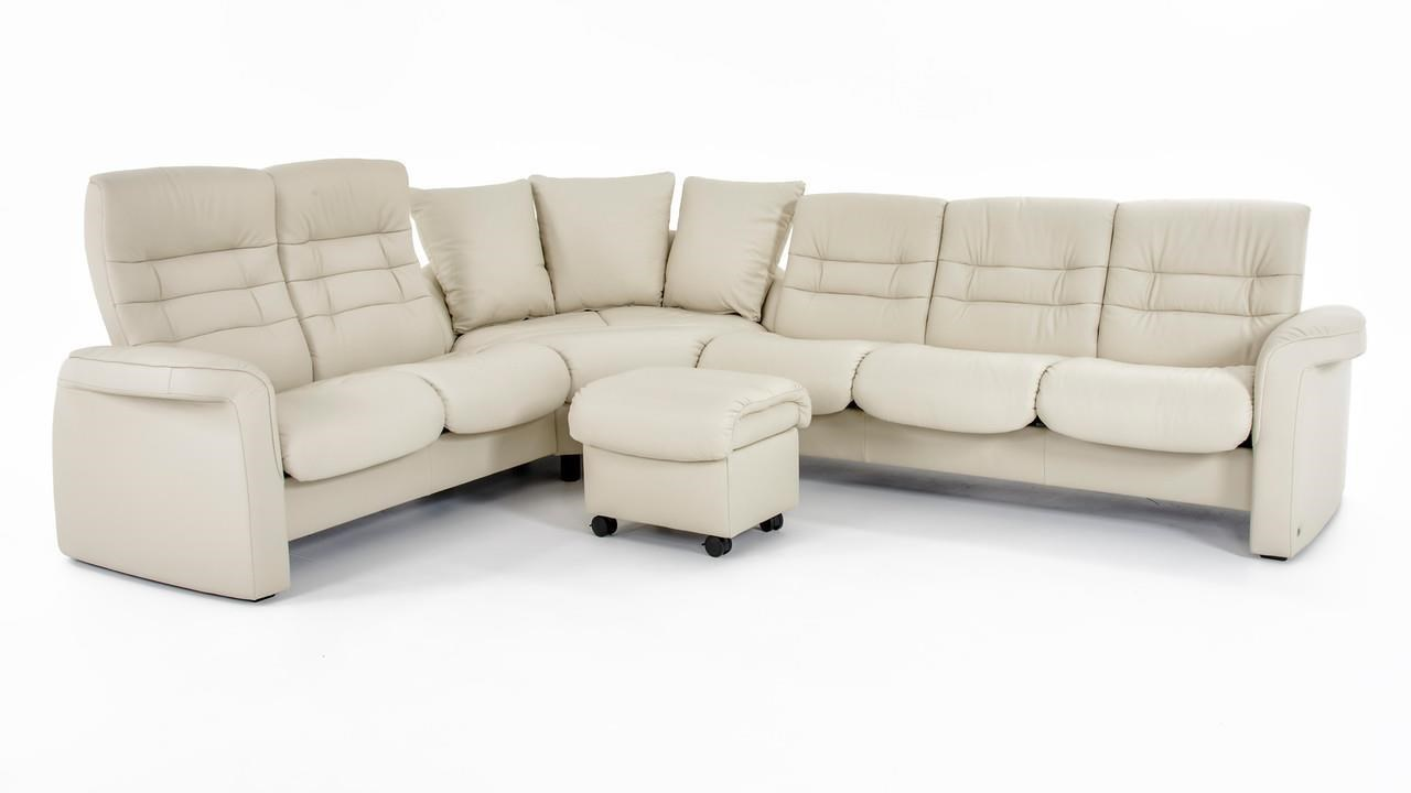 stressless by ekornes stressless sapphire four piece reclining sectional sofa with high and low back seats baeru0027s furniture reclining sectional sofas