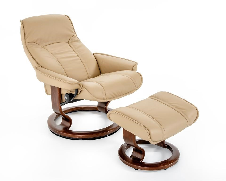 Stressless by Ekornes Stressless Senator 148199082 Medium Classic Reclining Chair and Ottoman  sc 1 st  Baeru0027s Furniture & Stressless by Ekornes Stressless Senator Medium Classic Reclining ... islam-shia.org