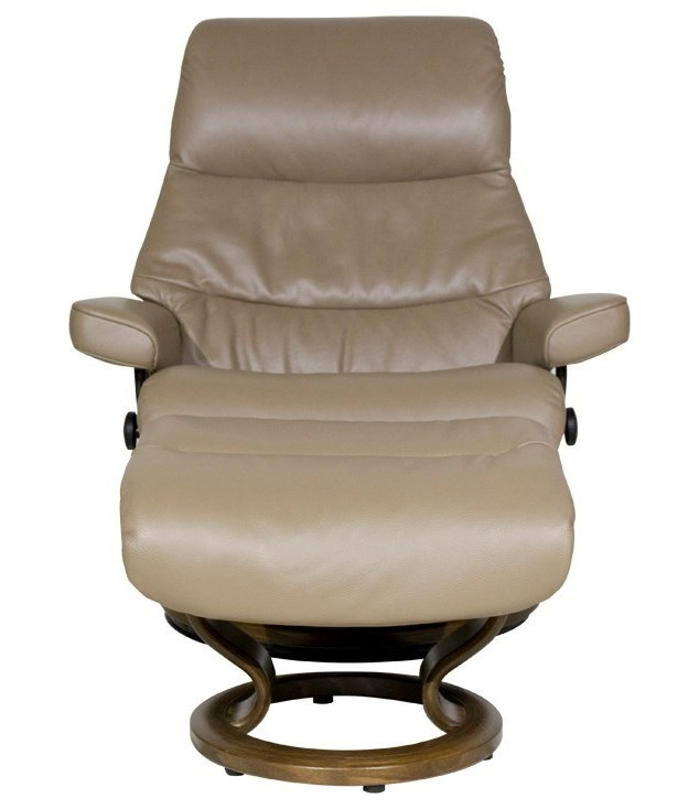 Stressless ViewLarge Chair & Ottoman with Classic Base